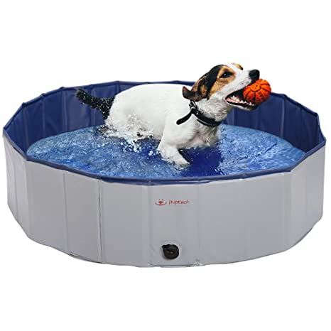 Amazon.com: PUPTECK Foldable Dog Swimming Pool - Outdoor Portable ...