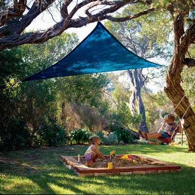 Coolaroo Coolhaven Shade Sail Right Triangle 15ft x 12ft x 9ft Saphire