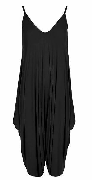 New Ladies Women/'s Baggy Harem Cami Lagenlook Romper Jumpsuit Playsuit Size 8-26