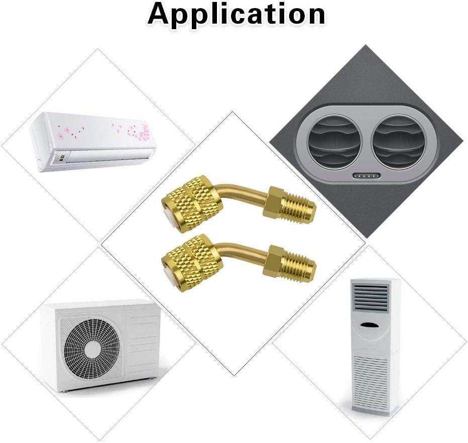 LYTIVAGEN 2Pcs Adaptateur de Connecteur en Laiton Split Connecteur R410A Split Connecteur 5//16  SAE /à 1//4  SAE pour Climatisation Mini Split R410a Services de CVC et de R/éfrig/ération
