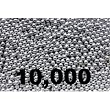 10,000 ct Silver Zinc Plated Metal BBs 4.5mm (.177 Cal)