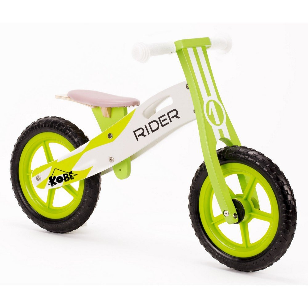 Kobe Wooden Balance Bike Green Rider Wood Bicycle 12