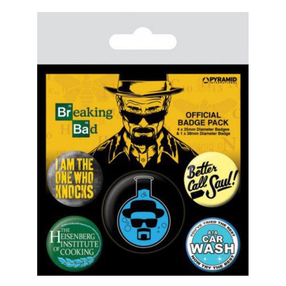 Breaking Bad Heisenberg 5-Button Badge Pack Gamesland BP80490