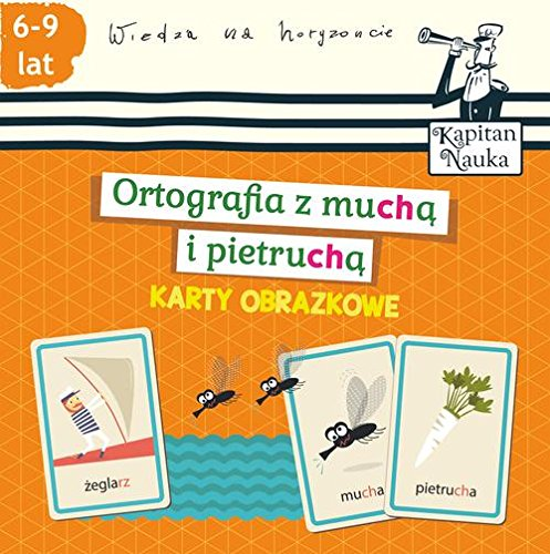 Karty obrazkowe Ortografia z mucha i pietrucha 6-9 lat