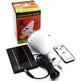 lampada solare LED lampadina - riflettore portatile lampada lanterna con pannello solare con telecomando per l'illuminazione esterna campeggio tenda da pesca di illuminazione