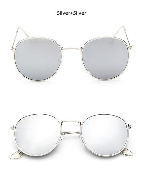 Lunettes de soleil femme ronde Vintage Fashion Brand designer Classic Punk  à vapeur Mirror Lunettes de soleil pour femme,UV400 Argent argent   Amazon.fr  ... 26486ef4da8c