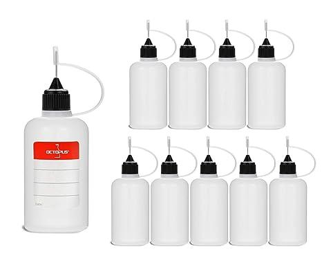 10 Botellas de recarga con aguja Octopus de 50 ml, botella para líquidos electrónicos para shishas ...