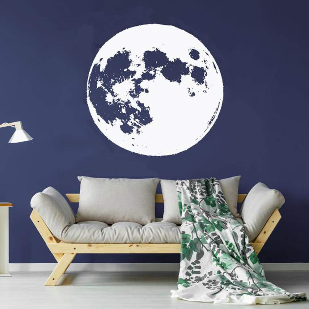 zqyjhkou Full Moon Wall Decal Stars Constellation Sky Vinyl ...