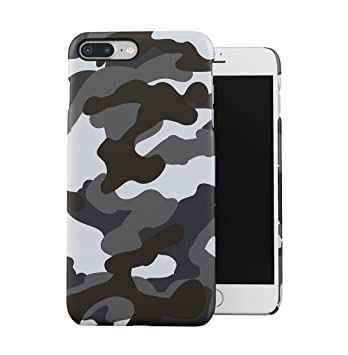 DODOX Gray Snow Camouflage Camo Case Compatible with Apple iPhone 7 Plus/iPhone 8 Plus Snap-On Hard Plastic Protective Shell Cover Carcasa