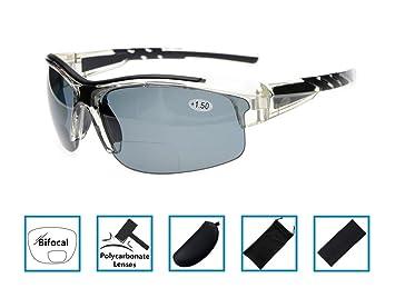 912af4ef2cd8 Gr8Sight Bifocal Tinted Reading Sunglasses Sun Readers Half Rimless Frame  UV400 Protection Wraparound Designer Style Sports