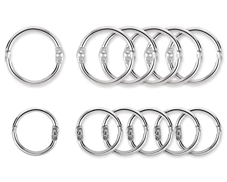 Amazon.com: ACE SELECT - 100 anillos de metal redondos para ...