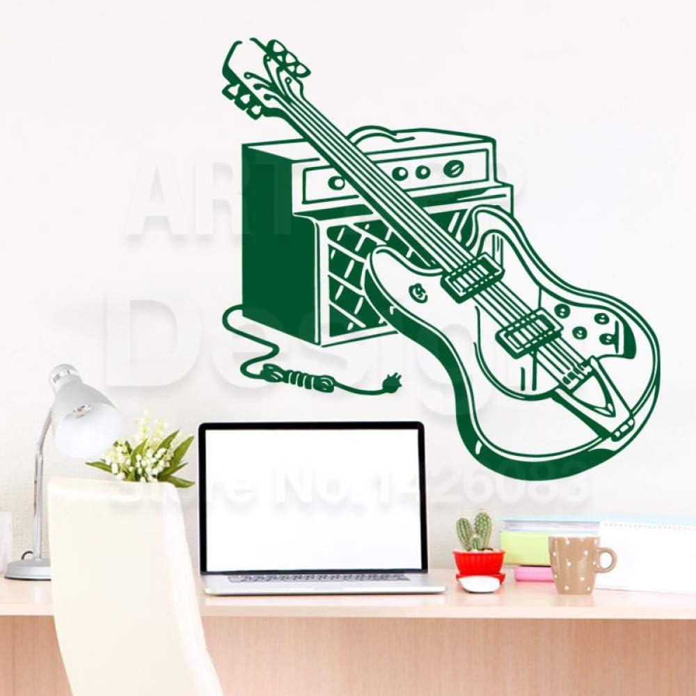 Modeganqingg Vinilo Decoración del hogar Guitarra Set Etiqueta de ...