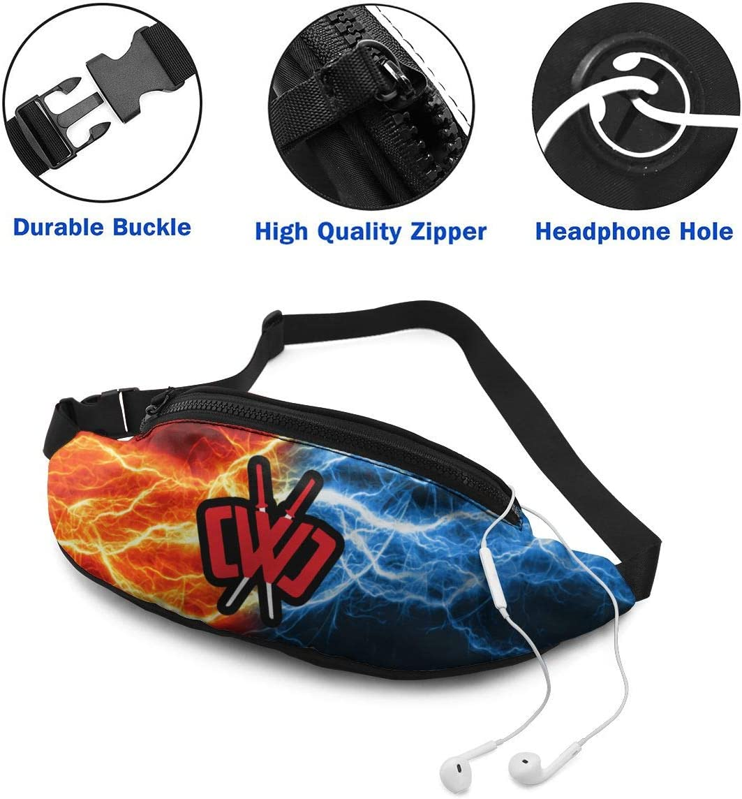 KIERAN HAYES CWC Chad Wild Clay Waist Bag Fitness Belt Bag Pack Pocket Pouch for Men Women Kids Teens