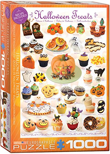 EuroGraphics Halloween Treats 1000 Piece Puzzle (Halloween Pumpkin Cupcakes Pictures)