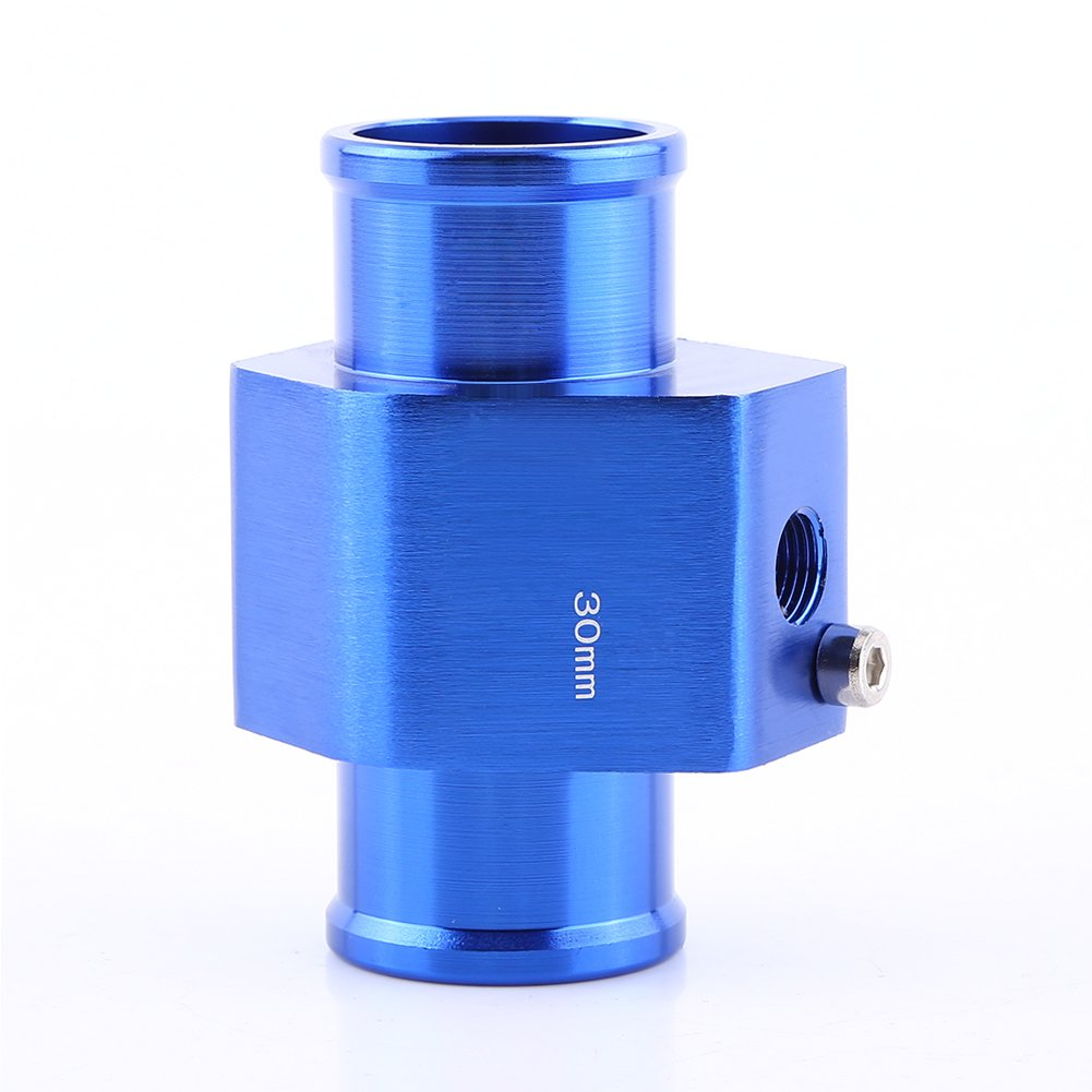40mm Universal Water Temp Joint Pipe Keenso Aluminum Water Temp Temperature Joint Pipe Sensor Gauge Radiator Hose Adapter 40mm Blue 26mm