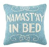 Peking Handicraft Namast'ay in Bed Hook Pillow, Turquoise