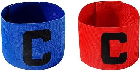 cjixnji Fútbol Capitán Brazalete, brazaletes elástica de fútbol para niños,para tamaño Ajustable, Apto para Varios Deportes como el fútbol y Rugby Etc (2): Amazon.es: Deportes y aire libre