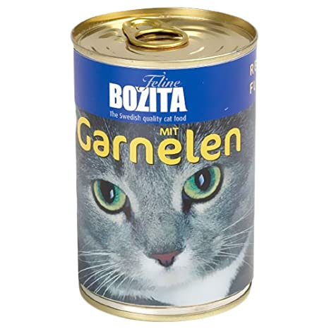 bozita Cat con salmón 410 G Lata de gato húmedo Forro 97% Carne
