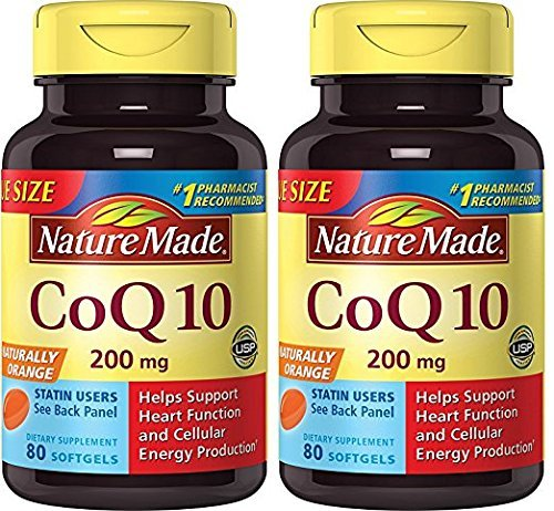 Nature Made Coq10 200 Mg, Naturally Orange,Value Size, 2 Pack (80 Each) Ocb1F Nature-nM by Nature Made