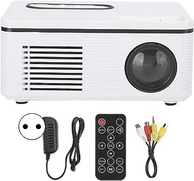 Opinión sobre Mini proyector doméstico, LED 1080P de Alta resolución Mini proyector portátil, Compatible con AV/Interfaz de Alta definición/Tarjeta de Memoria/USB(Blanco)