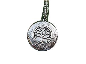 Tree of Life Necklace Silver Tree Locket Round Locket Necklace Round Tree Jewelry Family Locket