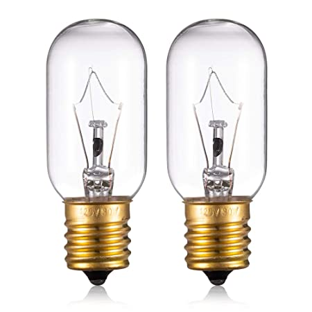 Replacement 6912W1Z004B Light Bulb for LG Frigidaire Microwave - Incandescent Lamp for Kenmore GE Whirlpool Maytag Over The Range Hood Microwave Oven, ...