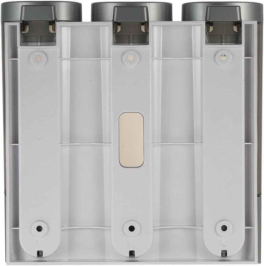 Blusea CHUANGDIAN 3 200ml Seifenspender Manuelle 3 Kammern Wand Fl/üssigseifenspender mit Doppelseitigem Schaumklebeband