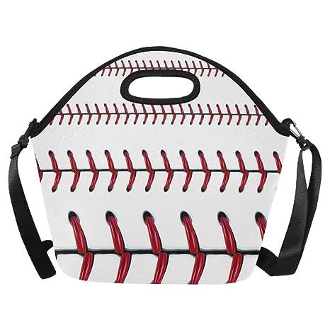 d22c9c4edf4d Amazon.com: InterestPrint Baseball Doodle Pattern Reusable Insulated ...