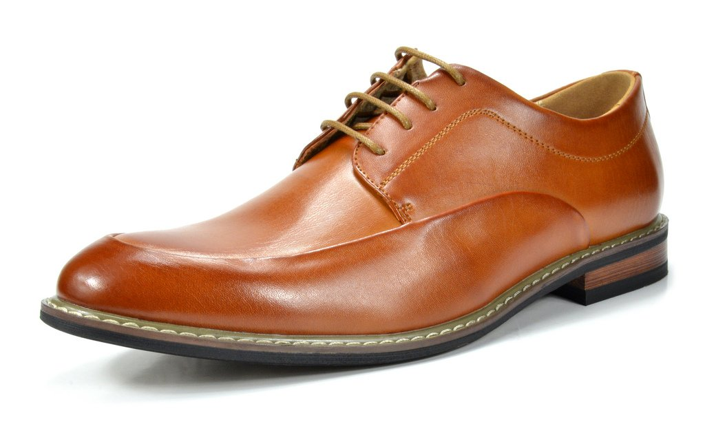 Bruno Marc Men's Prime-1 Brown Leather Lined Dress Oxfords Shoes - 12 M US