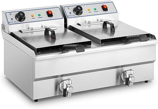 Royal Catering Freidora Eléctrica Doble Para Hostelería RCEF-16DTH ...