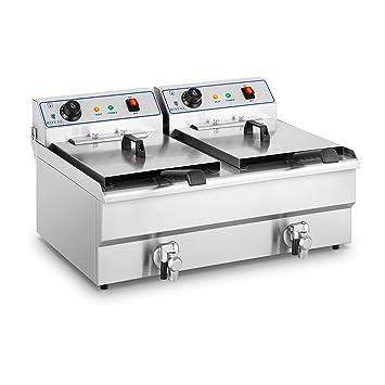 Royal Catering Freidora Eléctrica Doble Para Hostelería RCEF ...