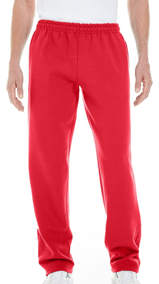 Gildan Mens Standard Fleece Open Bottom Pocketed Pant Gildan Men' s Activewear G18300