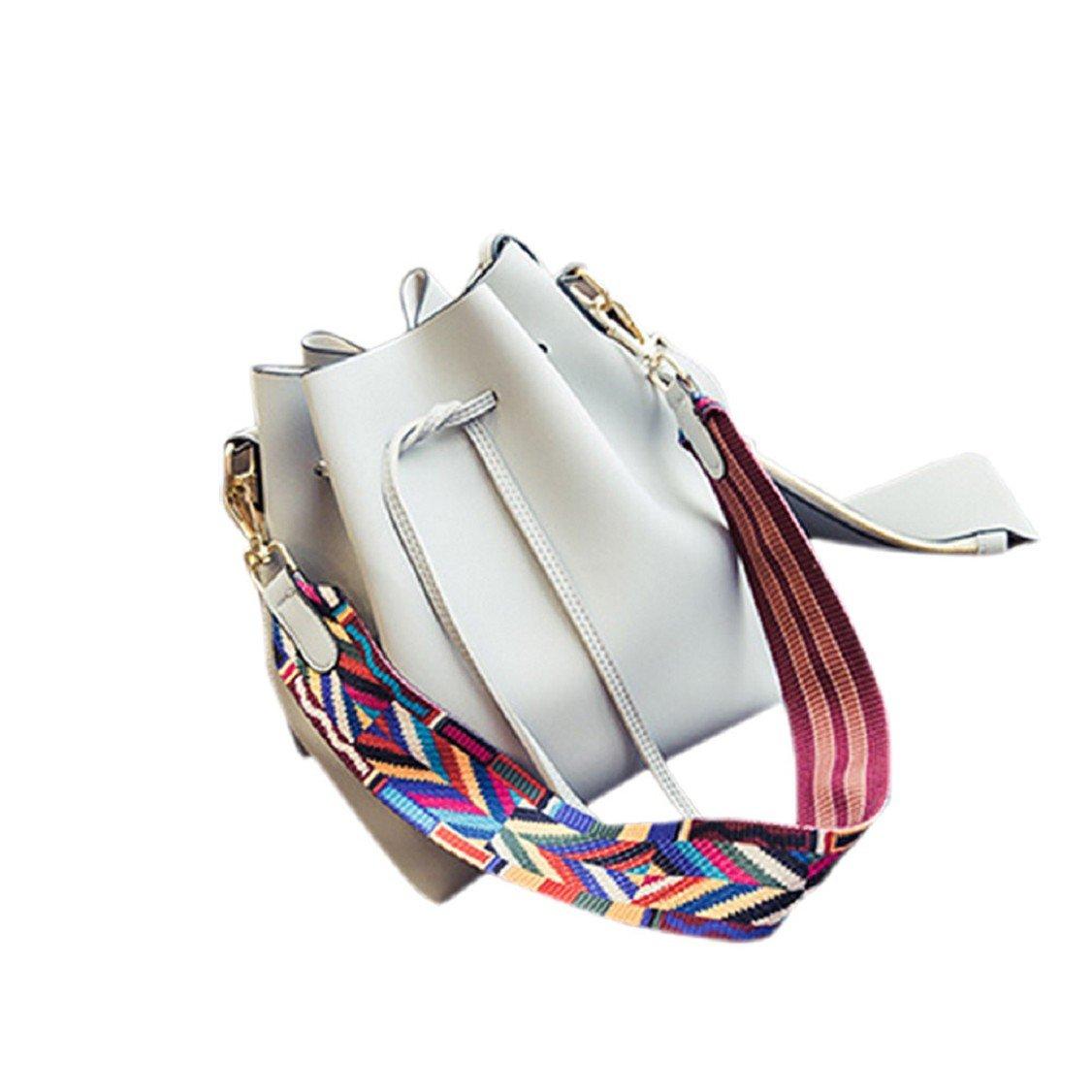d95e924fe76a Amazon.com: Egmy® 2016 2PC Women Retro Drawstring Bucket Handbag ...
