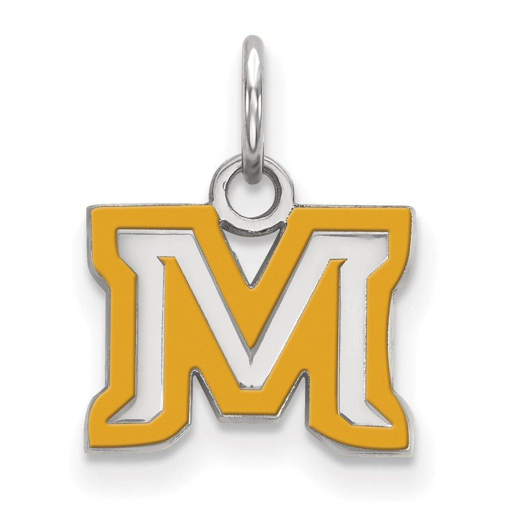 SS Montana State University XS Enamel Pendant Sterling Silver