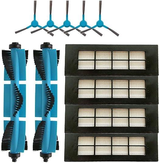 Dasorende Robot Aspirador Cepillo Principal del Filtro HEPA Cepillo Lateral para Conga 3090 Series Accesorios de Piezas de Filtro de Aspiradora RobóTica: Amazon.es: Hogar