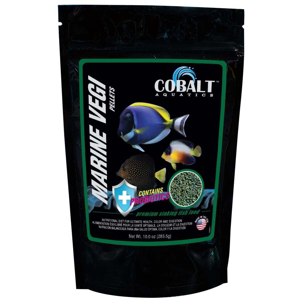 Cobalt Aquatics Marine Vegi Pellets, 10-Ounce