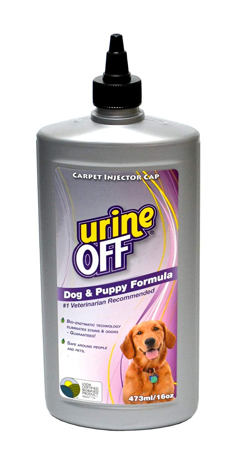 Urine Off Odor and Stain Remover for Dog and Puppy, 16-Ounce Injector Cap