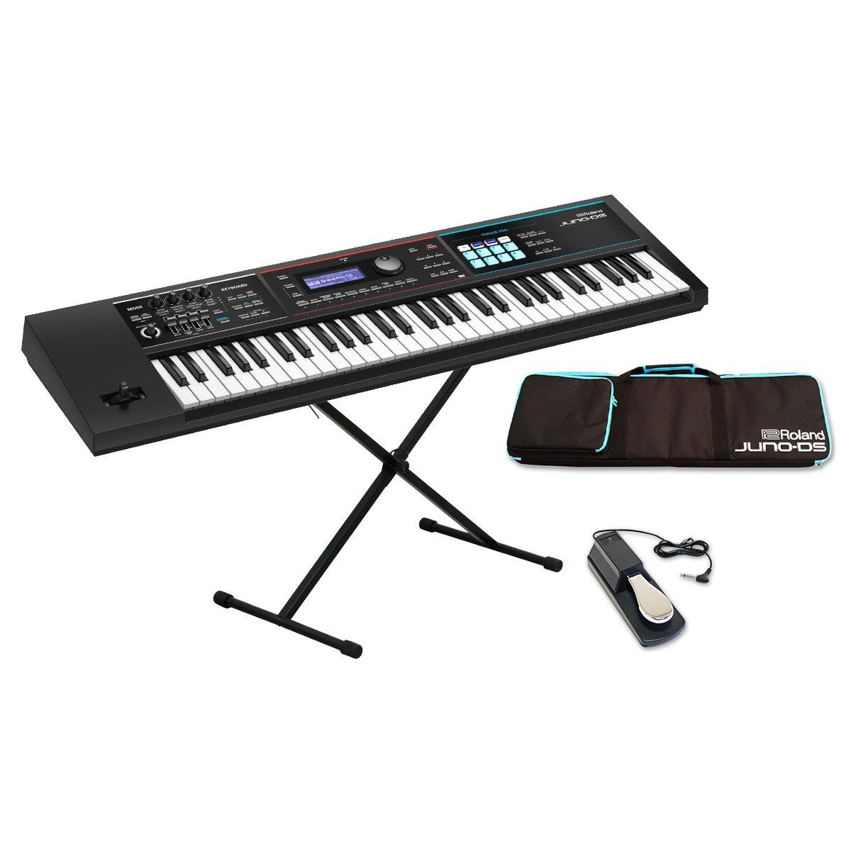 Roland JUNO-DS61 (ブラック) シンセサイザー 61鍵盤 シンプル4点セット 【ケース/スタンド/ペダル付き】 ローランド   B07CTHZLX3