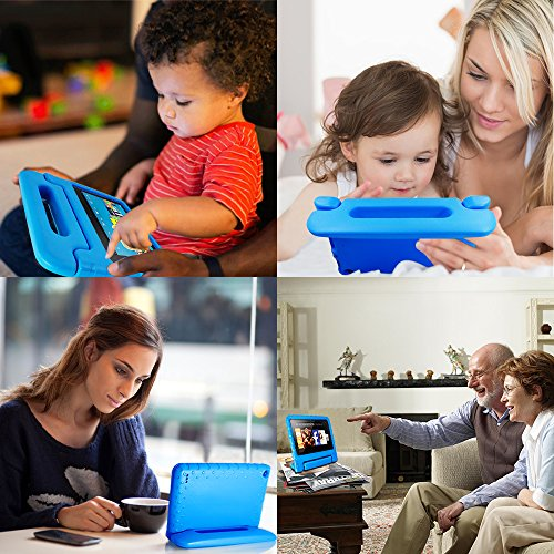 AFUNTA Tablet 7 2015 Case,Light Weight Shock Proof Convertible Handle Stand EVA Protective Kids Case for 7 inch Display Tablet (5th Generation - 2015 Release Only)-Blue by AFUNTA (Image #5)'