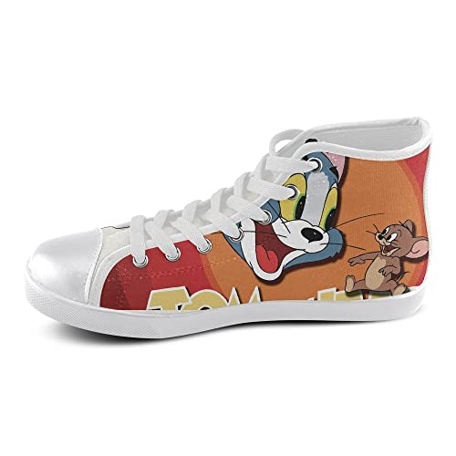 d5e8854cedffb OK-Shoes Men s High Top Cool Tom and Jerry  02 Canvas Fashion Sneakers 12