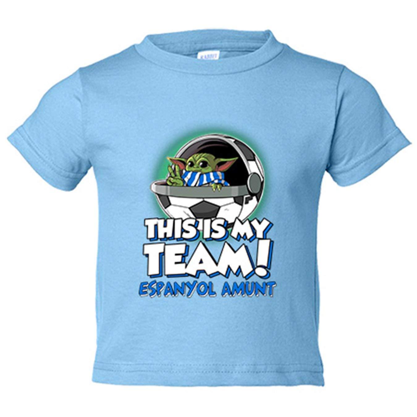Camiseta niño parodia baby Yoda mi equipo de fútbol Espanyol Amunt ...