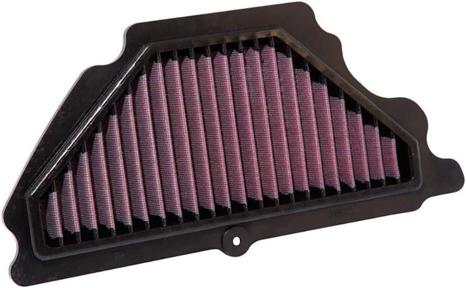 K&N Motorcycle Air Filter: High Flow Performance Air Filter Fits 2009-2019 Kawasaki ZX 636 Ninja Washable & Reusable OEM # Replacement 110130036 Air Filter KA-6009