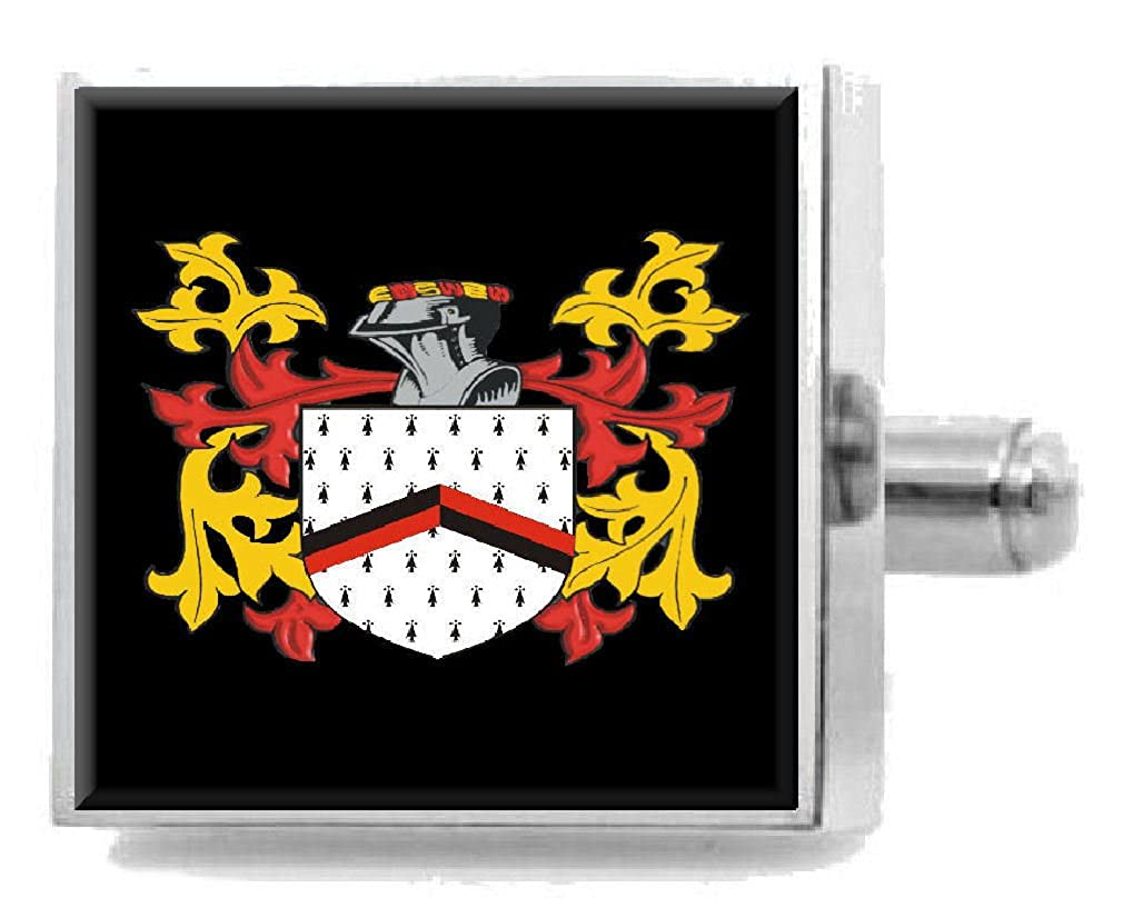 Select Gifts Mackey Scotland Family Crest Surname Coat Of Arms Cufflinks Personalised Case