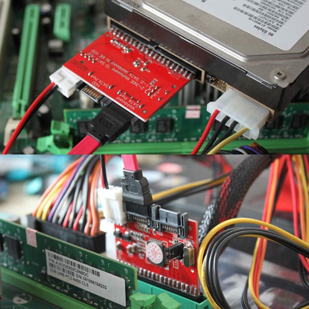 Heaven2017 2-Way Conversion IDE to SATA Serial ATA HDD Hard Drive Adapter Converter Card