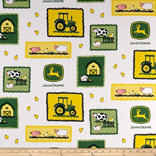 John Deere Nursery Farm Scene Patches Green Fabric By The (John Deere Farm Scene)