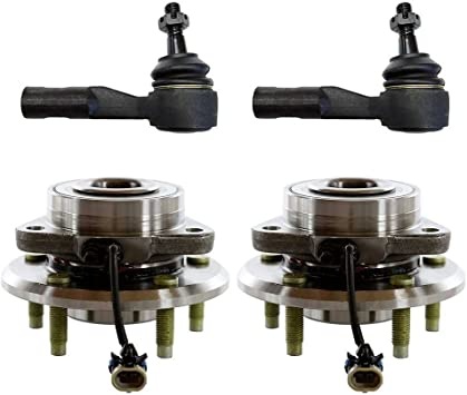 Prime Choice Auto Parts TRKHB30133092 Set of 2 Front Hub Bearings and 2 Front Outer Tie Rods