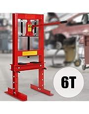 TIMBERTECH Prensa hidráulica de taller | 6T, con bomba hidraúlica y 2 placas de presión