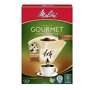 Melitta Kaffeefiltertüten 1x4 braun 80 Stück Filter Kaffeefilter Filterpapier