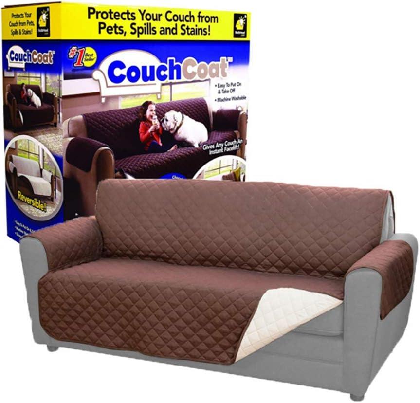 Children pet Sofa Slip Cover 180 * 245cm Three-seat Sofa Waterproof Sofa Cover Detachable Furniture Cover Sofa Cover Reversible Furniture Set 2 Elastic Band Taupe