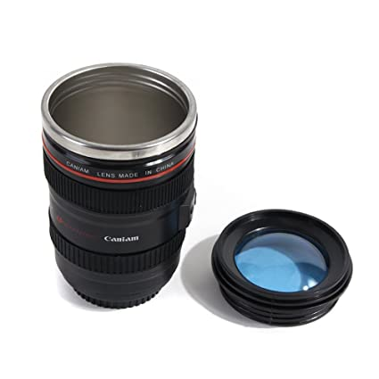 58737fb32b5 Image Unavailable. Image not available for. Color: 400ml Special Design  Creative Camera Lens Shape Self Stirring Coffee Cup Tea ...